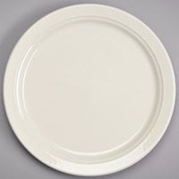 Homer Laughlin HL3477000 Gothic 9 inch Ivory (American White) Narrow Rim China Plate - 24/Case