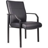 Boss B689 Black LeatherPlus Guest Chair