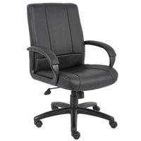 Boss B7906 Black Caressoft Executive Mid Back Chair