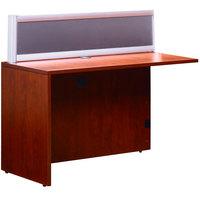 Boss N280G-C Cherry Laminate / Plexiglass Reversible Reception Return Desk - 36 inch x 24 inch x 42 1/2 inch