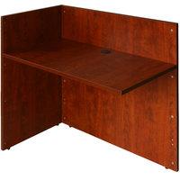Boss N180-C Cherry Laminate Reversible Reception Return Desk - 42 inch x 24 inch x 29 inch
