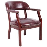 Boss B9540-BY Burgundy Vinyl Captain's Chair