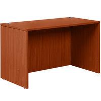 Boss N104-C Cherry Laminate Desk Shell - 48 inch x 24 inch x 29 inch