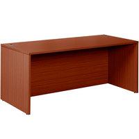 Boss N101-C Cherry Laminate Desk Shell - 71 inch x 36 inch x 29 inch