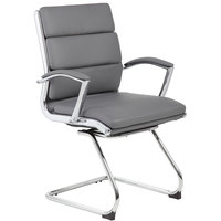 Boss B9479-GY Grey CaressoftPlus Executive Guest Chair