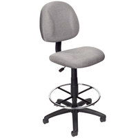 Boss B1615-GY Grey Armless Drafting Stool with Footring