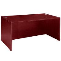 Boss N103-M Mahogany Laminate Desk Shell - 60 inch x 30 inch x 29 inch