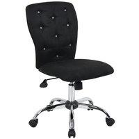 Boss B220-BK Black Microfiber Modern Tiffany Office Chair