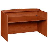 Boss N169-C Cherry Laminate Reception Desk - 71 inch x 30 inch x 42 inch