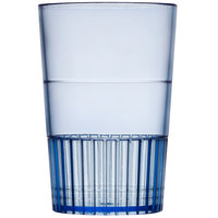 Fineline Quenchers 4115-BL 1.5 oz. Neon Blue Hard Plastic Shooter Glass - 10/Pack