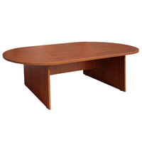 Boss N136-C Cherry Laminate 95 inch x 43 inch Oval Conference Table