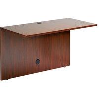 Boss N197-C Cherry Laminate Reversible Office Bridge - 42 inch x 24 inch x 29 1/2 inch
