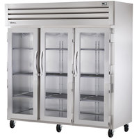 True STG3R-3G Specification Series Three Section Glass Door Reach In Refrigerator