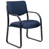 Boss B9521-BE Blue Fabric Guest Chair