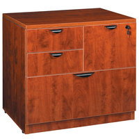 Boss N114-C Cherry Laminate Combination Lateral File Cabinet - 31 inch x 22 inch x 29 inch