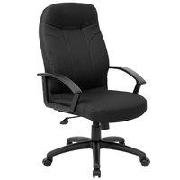 Boss B8801-BK Black Fabric Executive Chair