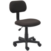 Boss B205-BK Black Fabric Steno Chair