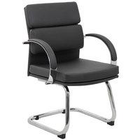 Boss B9409-BK Black CaressoftPlus Executive Guest Chair