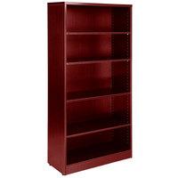 Boss N158-M Mahogany Laminate 5-Shelf Bookcase - 31 inch x 14 inch x 65 1/2 inch
