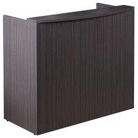 Boss N168-DW Driftwood Laminate Reception Desk Shell - 48 inch x 26 inch x 41 1/2 inch