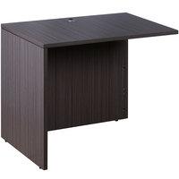 Boss N196-DW Driftwood Laminate Reversible Return Desk - 42 inch x 24 inch x 29 1/2 inch