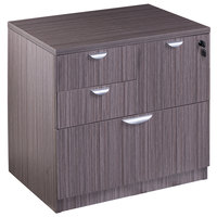Boss N114-DW Driftwood Laminate Combination Lateral File Cabinet - 31 inch x 22 inch x 29 inch