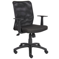 Boss B6106 Black Mesh Budget Task Chair with T-Arms
