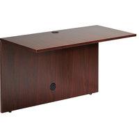 Boss N170-M Mahogany Laminate Reversible Office Bridge - 48 inch x 24 inch x 29 inch