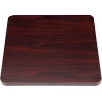 Boss N6ST-M 19 1/2 inch Square Mahogany Laminate Ganging Side Table Top for B629M Chairs