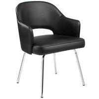 Boss B489C-BK Black Vinyl Guest Chair