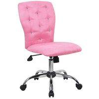 Boss B220-PK Pink Microfiber Modern Tiffany Office Chair
