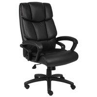 Boss B8701 Black Top Grain Leather Executive Chair