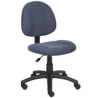 Boss B315-BE Blue Tweed Perfect Posture Deluxe Office Task Chair