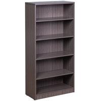 Boss N158-DW Driftwood Laminate 5-Shelf Bookcase - 31 inch x 14 inch x 65 1/2 inch