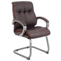 Boss B8779P-BN Brown Double Plush Executive Guest Chair