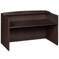 Boss N169-MOC Mocha Laminate Reception Desk - 71 inch x 30 inch x 42 inch