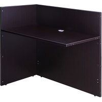 Boss N180-MOC Mocha Laminate Reversible Reception Return Desk - 42 inch x 24 inch x 29 inch