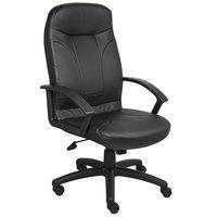 Boss B8401 Black LeatherPlus High Back Chair
