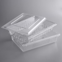 Choice 26 inch x 18 inch x 6 inch Clear Colander and Food Storage Box Kit