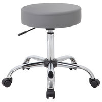 Boss Office B240-GY Grey Be Well Medical Professional Adjustable Stool