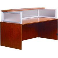 Boss N269G-C Cherry Laminate / Plexiglass Reception Desk Shell - 71 inch x 36 inch x 43 1/2 inch