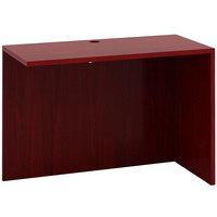 Boss N192-M Mahogany Laminate Reversible Return Desk - 36 inch x 24 inch x 29 1/2 inch