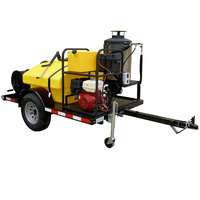Cam Spray UV3040H-HOT Trailer Mounted Gas Hot Water Pressure Washer with 100' Hose - 3000 PSI; 4.0 GPM