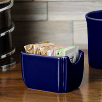 Homer Laughlin 479105 Fiesta Cobalt Blue 3 1/2 inch x 2 3/8 inch Sugar Caddy - 12/Case