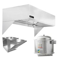 Halifax 421SCHP748 Type 1 7' x 48 inch Commercial Kitchen Hood System with Short Cycle Makeup Air