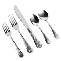 Acopa Industry 18/0 Stainless Steel Heavy Weight Flatware Set with Service for 12 - 60/Pack