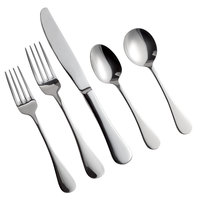 Acopa Vernon 18/0 Stainless Steel Heavy Weight Flatware Set with Service for 12 - 60/Pack