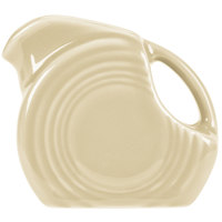 Homer Laughlin 475330 Fiesta Ivory 5 oz. Mini Disc Creamer Pitcher - 4/Case