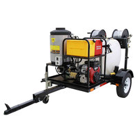 Cam Spray UV4040V-HOT Trailer Mounted Gas Hot Water Pressure Washer with 100' Hose - 4000 PSI; 4.0 GPM