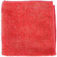 Knuckle Buster MFMP12RD 12 inch x 12 inch Red Microfiber Cleaning Cloth - 12/Pack